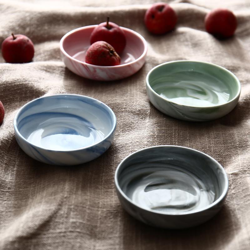 北欧大理石纹陶瓷味碟酱油碟小食碟番茄酱辣椒碟蘸酱碟创意小碟子