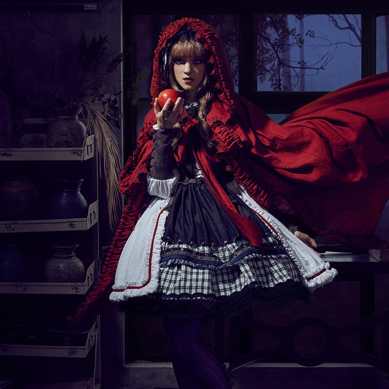 狼化小红帽FS+崩坏人偶+lolita-fullset套装连衣裙 现货