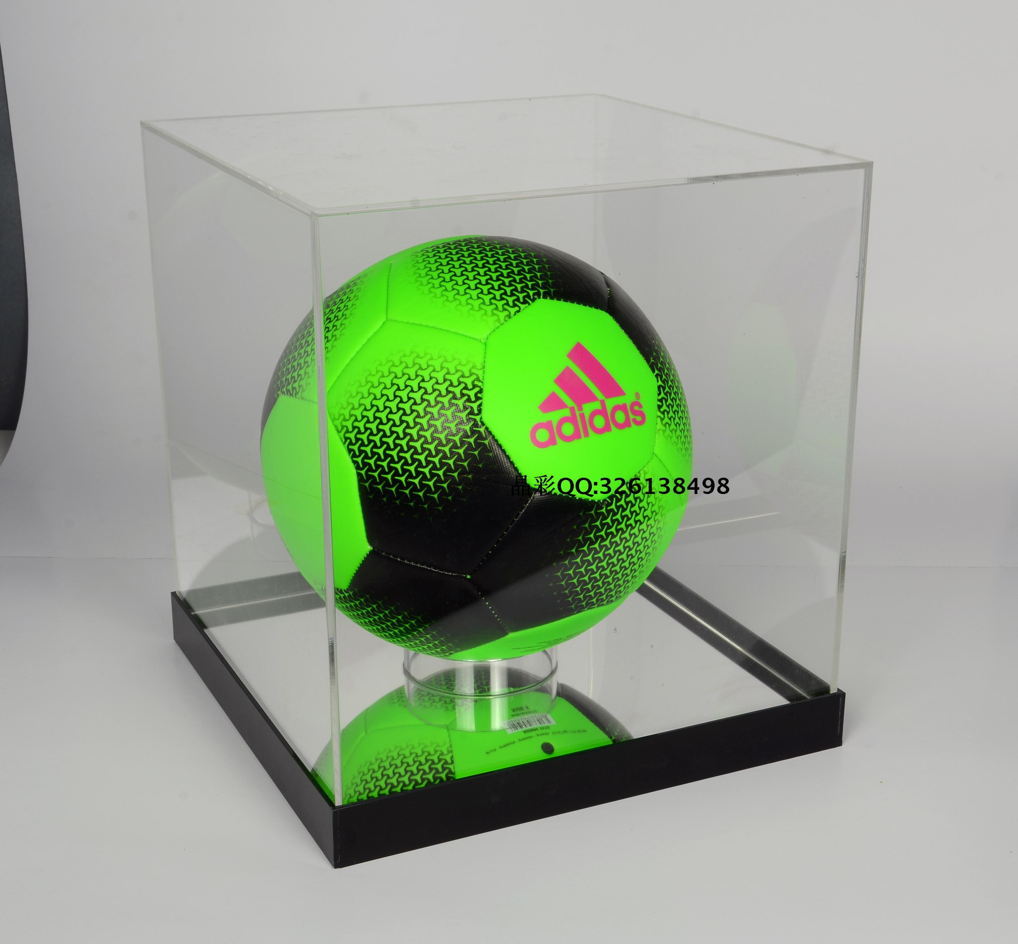 欧冠签名篮球足球排球托类透明亚克力防尘抗氧化收藏收纳展示盒架