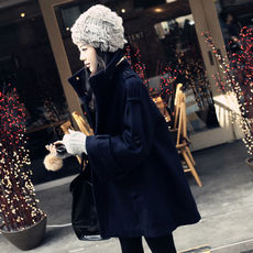 Maternity autumn and winter jackets Korean version of the large size long woolen cloak coat winter loose pregnant women jacket tide
