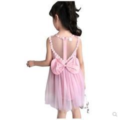 女童连衣裙春春季长袖儿童纯棉公主裙红色蕾丝礼服白色裙子