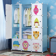 Children's wardrobe simple storage cabinet multi-function storage finishing free combination plastic baby baby closet