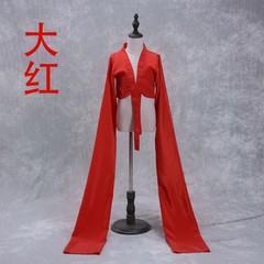 长袖袖子服装学生舞衣黑色女生白色大红色水袖上衣女古典舞表演