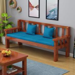 简单新中式实木沙发123组合北欧式现代古典大气复古四季双人椅