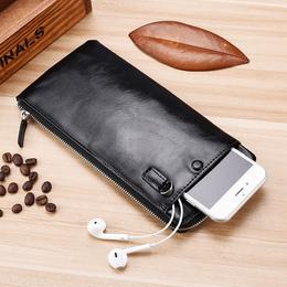 男士钱包长款拉链青年小手包2018新款手机包超薄皮夹韩版多卡位潮