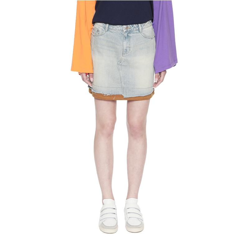 設計師品牌 買手實體店 SJYP 燈芯絨拼接牛仔半裙 PF1832473
