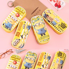 包邮可爱小黄人笔袋铅笔盒创意文具袋简约韩国儿童学习用品文具盒