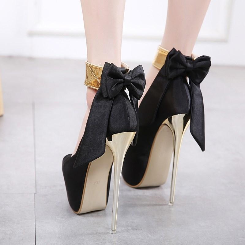 夜店恨天高女鞋18cm/20公分超高跟凉鞋 粗跟舞台演出鞋车模走秀鞋