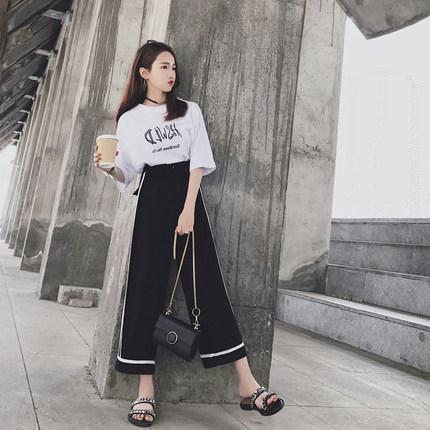 2019夏装新款女装韩版时尚两件套初中学生闺蜜休闲运动服套装女潮