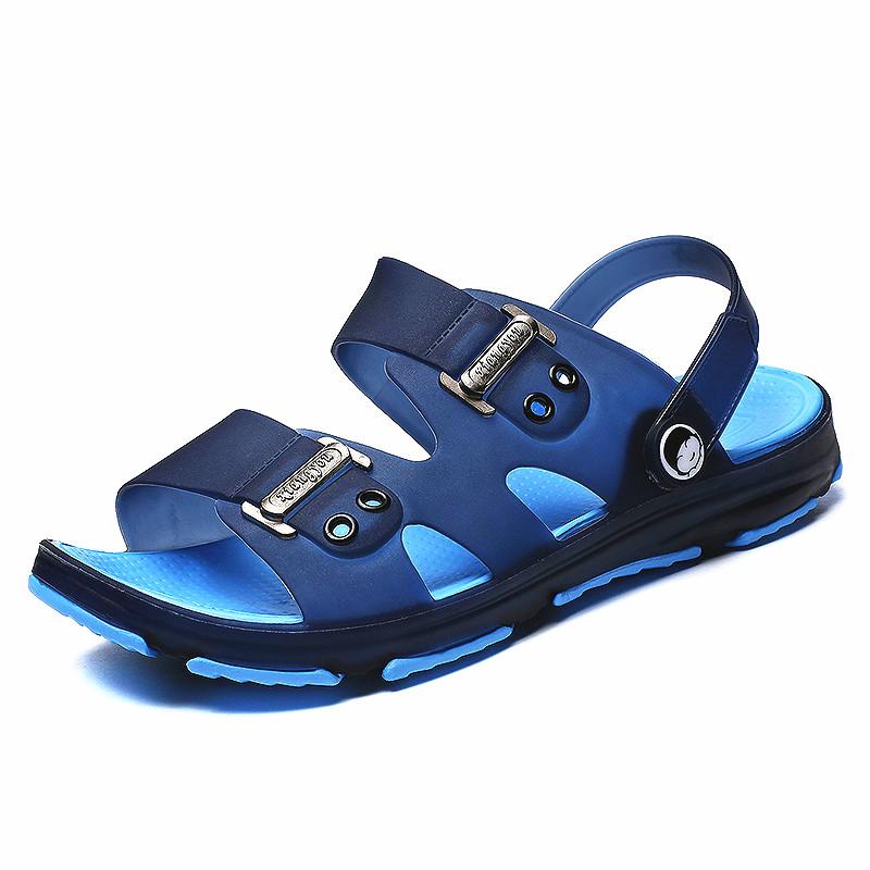 凉鞋男士拖鞋男夏季一字拖男凉拖鞋时尚外穿沙滩鞋防滑洞洞拖鞋潮