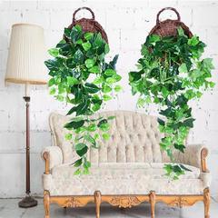装饰花藤仿真婚庆室内藤蔓紫藤花垂吊篮空调绿植物长壁挂腾条家用