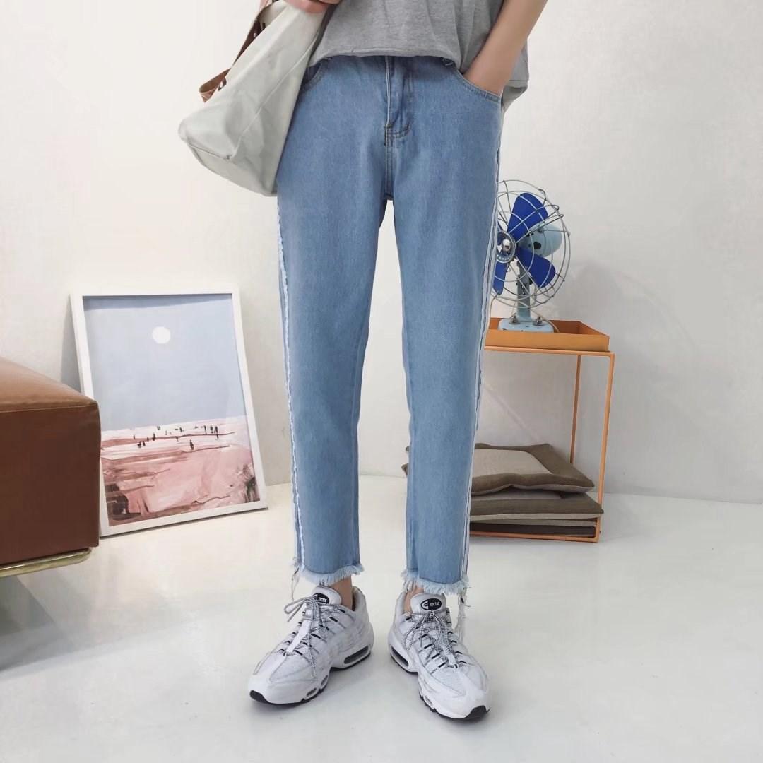 夏季新款男士九分牛仔裤休闲修身学生直筒裤子百搭韩版潮流牛仔裤