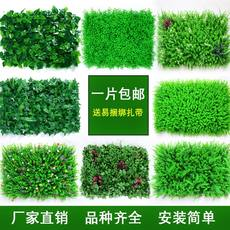 Simulation plant green plant decorative wall artificial turf door head background wall plastic fake flower grass indoor turf yang.