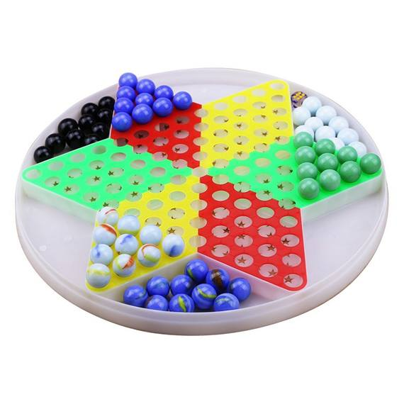 Beads Multi-function Adult Flying Chess Multicolored Puzzle Chess Children Jump Checkers Color Fun Glass Beads Puzzle Wave