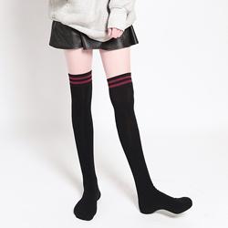 女袜子长筒袜女韩国过膝袜日系学生原宿校服高筒袜黑色学院风百搭