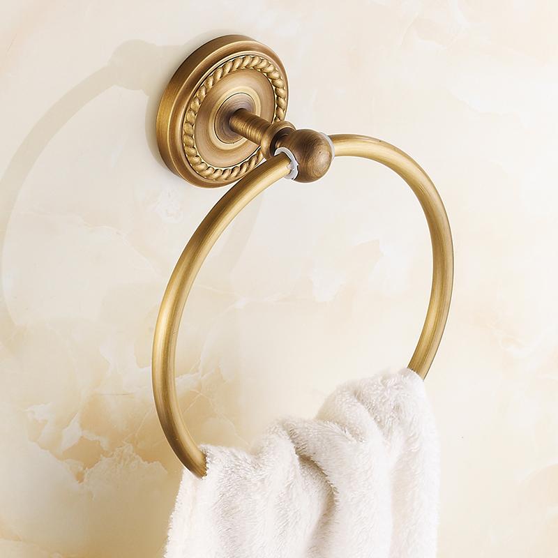 仿古浴室挂件 全铜毛巾环  毛巾圈 毛巾挂欧式复古毛巾环 毛巾挂