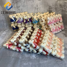 Jianghai cartoon bouquet bear ice cream drill bear foam doll flower packaging material doll florist supplies
