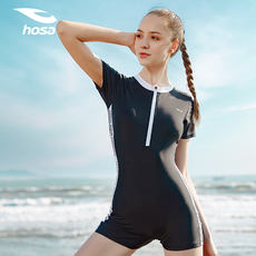 Hosa swimsuit female professional conjoined boxer swimsuit Korea ins wind conservative cover belly was thin large size swimsuit tide