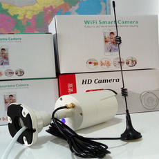 Wireless surveillance camera WiFi signal amplifier enhanced expansion through the wall Extension cable 5 meters with suction cup antenna