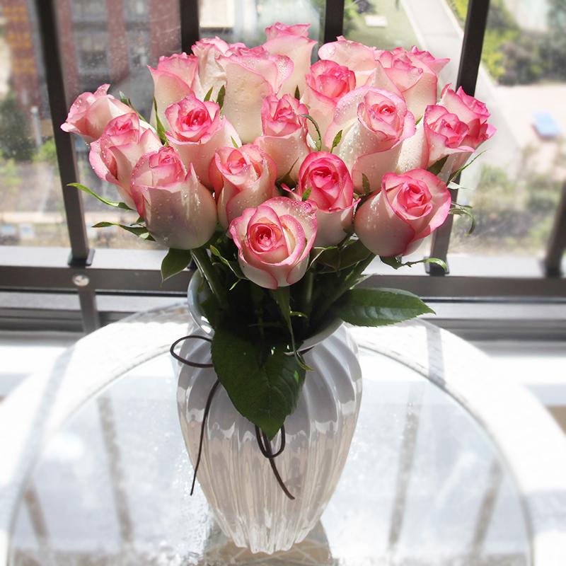 【坏单包赔】云南昆明基地鲜花玫瑰20支花束生日批发包邮全国速递