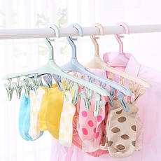 8 clip windproof buckle multi-function household hangers socks clip plastic clothes drying rack underwear drying racks