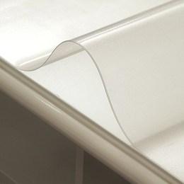 新品进口透明水晶板餐桌布艺软玻璃茶几垫防水PVC桌垫加厚磨