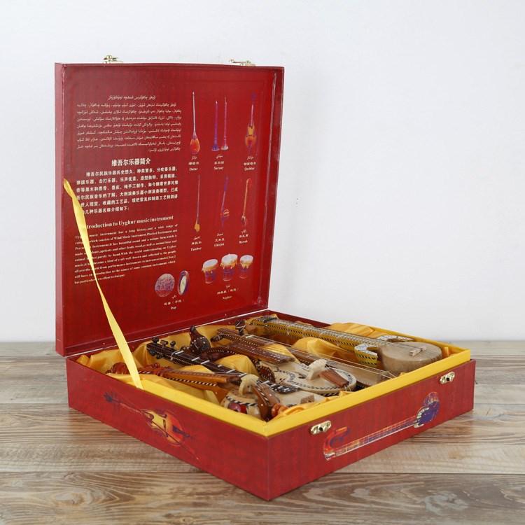 新疆乐器五件套都塔尔热瓦普艾捷克特色礼品纪念品工艺品30厘米