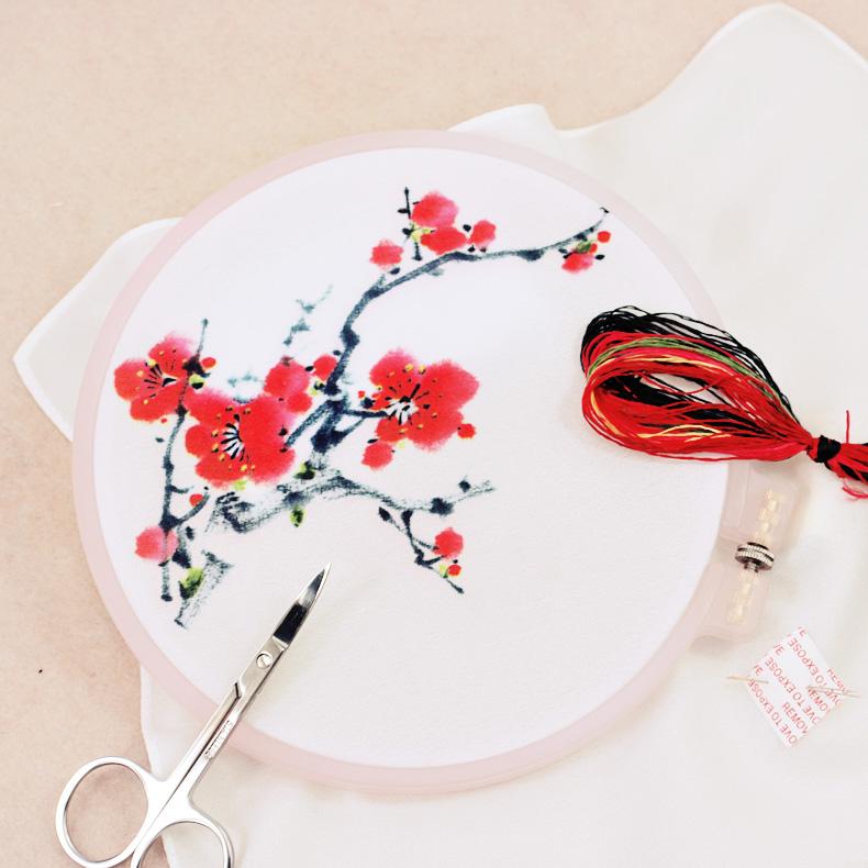 手工刺绣图案 手绘图案纸复印版 戳戳乐掇花图案纸质绣花图案
