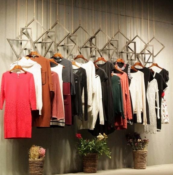 服装店展示架装修服装吊环男装店铺货架女装店吊顶挂衣架