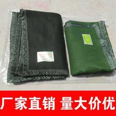 09毛毯 纯色加绒加厚 正品配发部队军绿色单人户外用毛巾毯子保暖