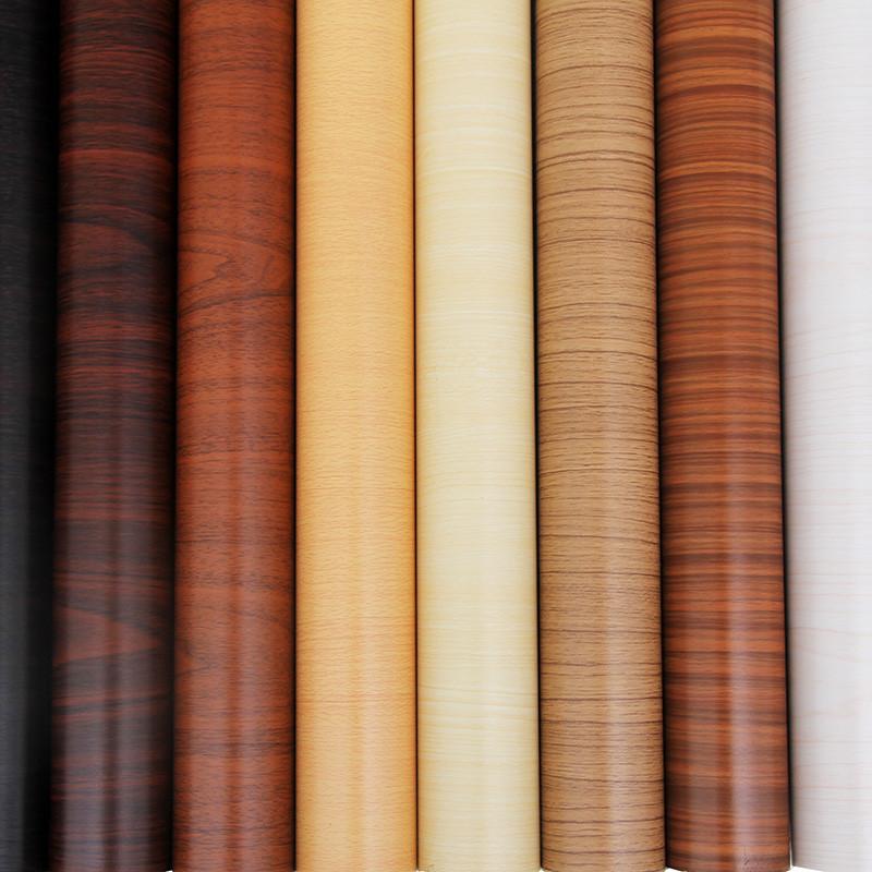仿真木纹纸家具翻新贴纸衣柜橱柜门卓子翻新贴膜防水PVC自粘墙纸