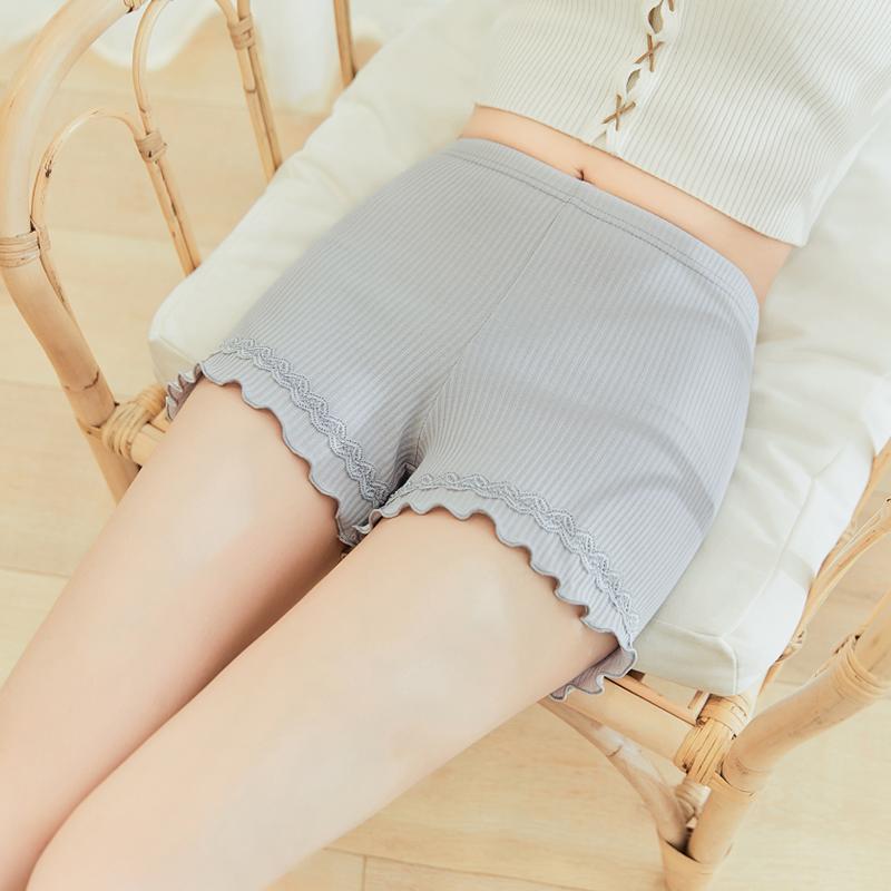 2019新款安全裤女防走光纯棉打底短裤夏季薄款外穿蕾丝三分保险裤