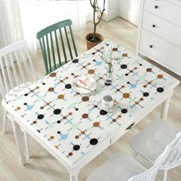 厨房宿舍桌布防水防油免洗梳妆台餐桌垫大学家庭餐垫塑料吧台透明