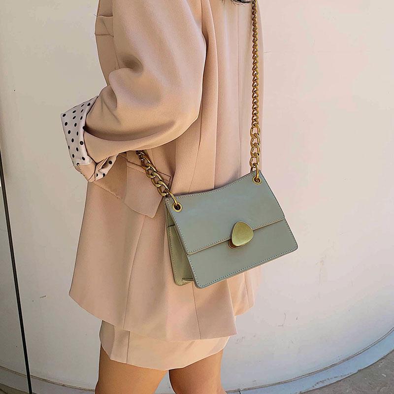 夏季上新质感包包女2019新款韩版百搭单肩斜挎ins时尚链条小方包