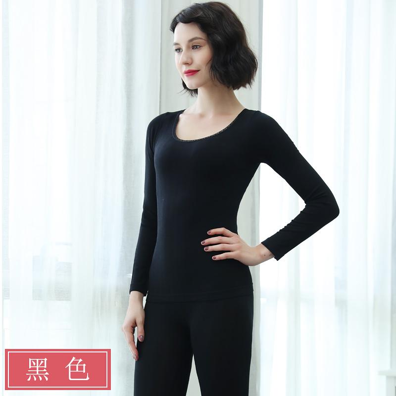 婷美轻薄舒适保暖美体修型套装 无束缚保暖女内衣套装