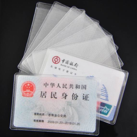10 Pack Transparent Antimagnetic Card Set Bank Student Rice Card ID Card Cover Access Card Bag Bus Card Holder