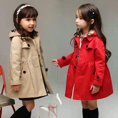 2至10岁童装女孩秋装春6女童风衣服9薄外套3儿童4到5岁半8女宝宝7