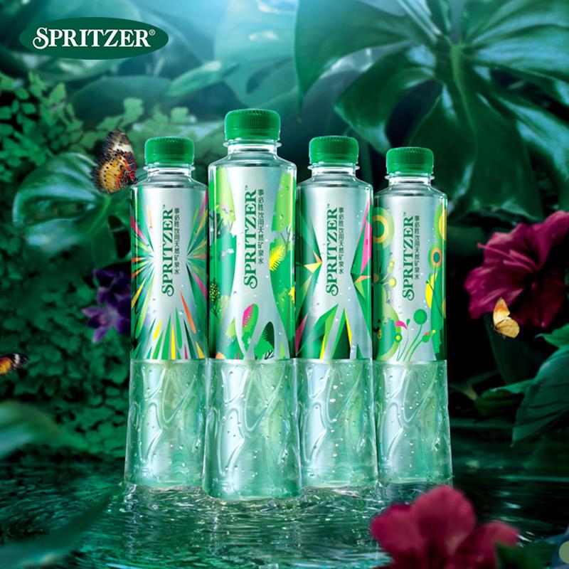 Spritzer事必胜进口矿泉水饮用水400ml*24瓶整箱*12箱一年量贩装
