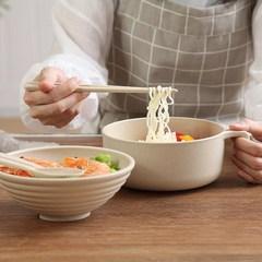有盖家庭大碗方便面碗碗勺餐盘圆形吃泡面的碗带盖宿舍用学生老式