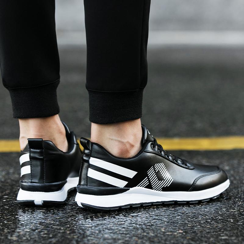 法奈姿男鞋冬季新款皮面运动鞋男士休闲鞋子男百搭防滑跑步鞋