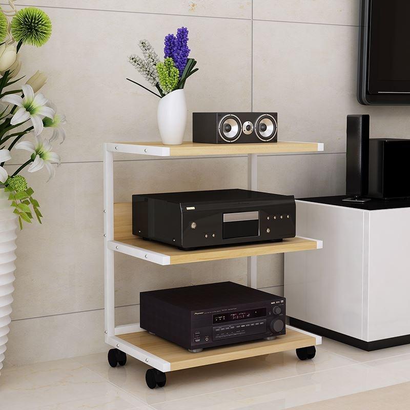 客厅支撑影音电器功放机柜音响柜白色加粗卧室电视柜托架书房落地