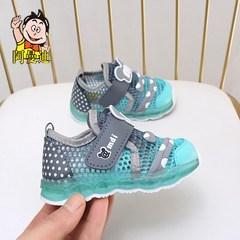 阿曼迪童鞋子男童凉鞋2019新款小童儿童女童男宝宝凉鞋潮包头软底