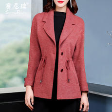 Short section coat autumn and winter new 2017 temperament women's Sai Rui Slim with temperament fashion woolen coat