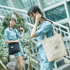 品牌帆布包日韩系学院风书包百搭大容量单肩包多用斜挎包休闲布包