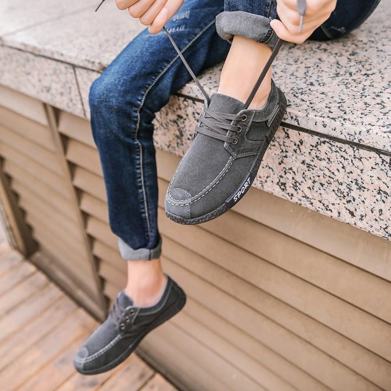 夏季透气帆布鞋男鞋轻便跑步鞋学生牛仔板鞋韩版运动休闲鞋b 361