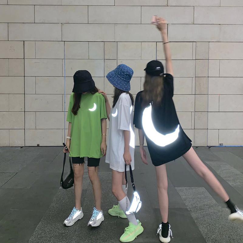 个性街拍女生夏季酷酷女孩穿搭套装夏天社会精神女衣服T恤闺蜜装