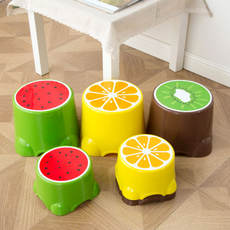 Home House Fruit Stool Children's Stool Cute Plastic Stool Round Chair Baby Cartoon Foot Stool Low Stool Thicken Bench