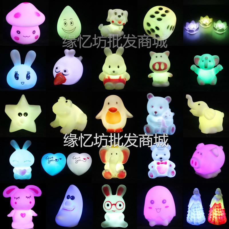 儿童发光玩具热卖 七彩LED小夜灯节日聚会广场套圈圈夜市地摊热卖
