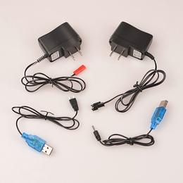 遥控直升飞机锂电池充电器 3.7V 7.4V SM接头 JST接头 USB充电线