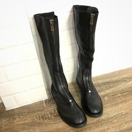 guidi手工长靴410骑士靴前拉链真皮平底高筒女靴子复古马丁靴女